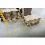 Imagem adicional do produto SIMBOLO ADESIVO DURABLE PVC FORMA DE CRUZ PARA DELIMITACAO DE CHAO AMARELO 150X150X0,7 MM PACK DE 10 UNIDADES REF DURABLE 1701-04