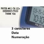 Imagem adicional do produto RELOGIO DE REGISTO DE HORA DATADOR NUMERADOR AUTOMÁTICO PIX 200, COM PERSONALIZAÇÃO DO TIPO DE IMPRESSÃO