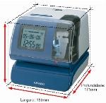 Imagem do produto RELOGIO DE REGISTO DE HORA DATADOR NUMERADOR AUTOMÁTICO PIX 200, COM PERSONALIZAÇÃO DO TIPO DE IMPRESSÃO