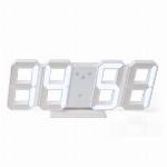 Imagem do produto RELÓGIO DE CABECEIRA DECORACAO LED 3D DIGITOS BRANCOS